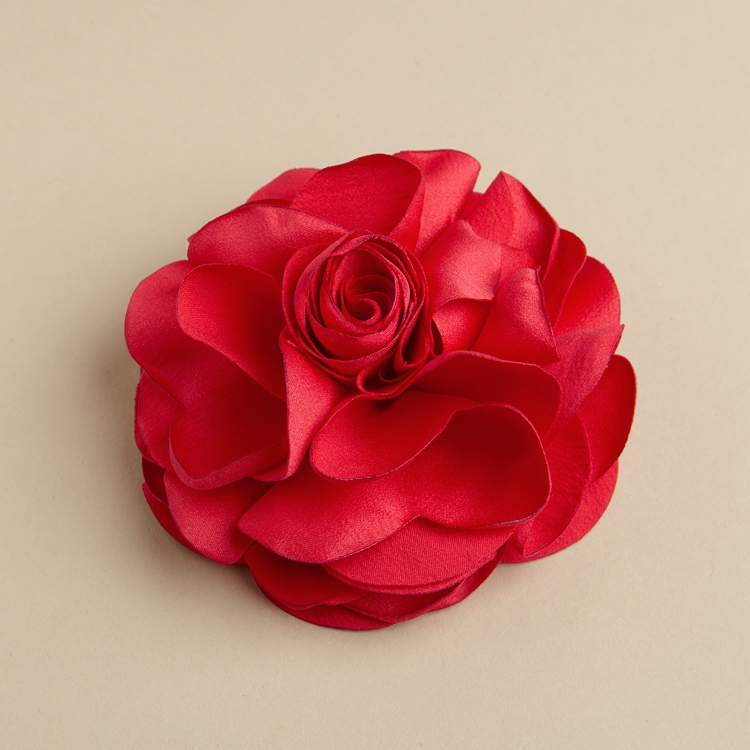 Red silk flower hair clip or pin affordable jewelry direct red silk flower hair clip or pin mightylinksfo